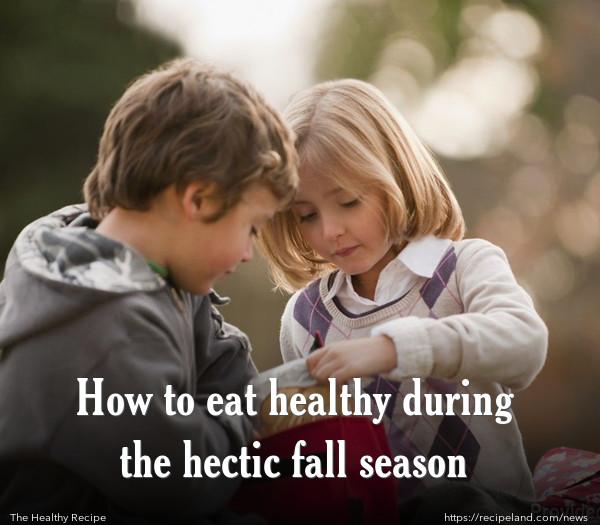 Healthy Kids During the Fall Season