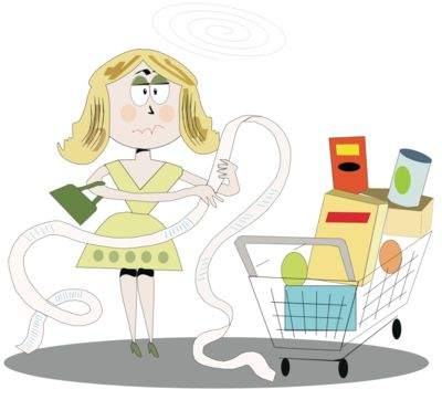 Woman shocked by grocery bill