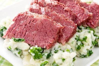 Irish corned beef colcannon