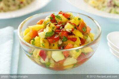 Pineapple, Mango and Cucumber Salsa