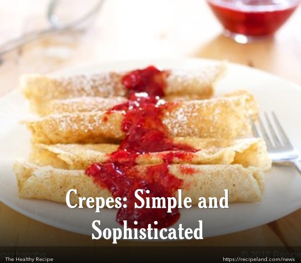 Crepes with Strawberry Sauce