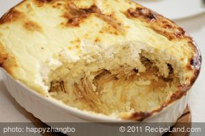 Russian Potato Casserole with Caramelized Onions