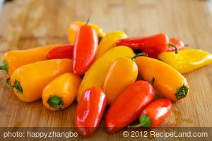 Baby Peppers Stuffed with Spiced Cream Cheese