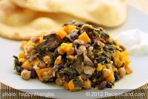 Indian Spiced Two Beans and Sweet Potato Crock Pot