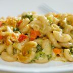 Three Cheese Broccoli Mac and Cheese