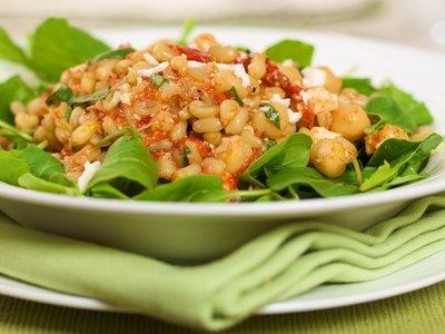 Arugula, Chickpea and Wheat Berry Salad