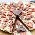 Valentine's Day Brownie Pizza
