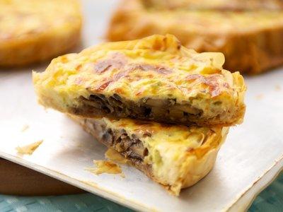 Cheesy Mushroom Phyllo Tartlets