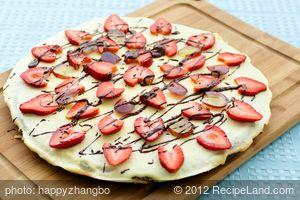 Applesauce Brownie Pizza