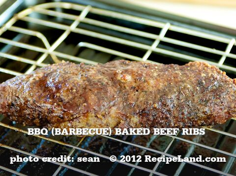 Bbq (Barbecue) Baked Beef Ribs
