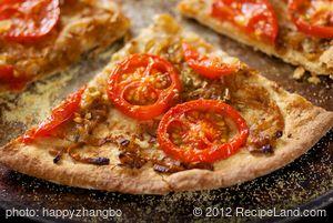 Tomato and Onion Pizza