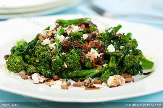 Braised Broccoli Rabe (Rapini) Sun-dried Tomatoes and Feta Cheese