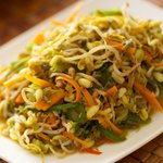 Bean Sprouts Stir-Fry with Bell Pepper and Carrot