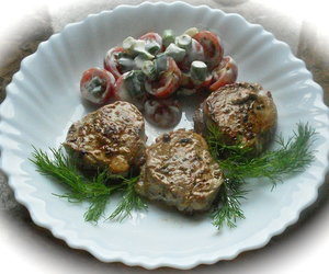 Pork Tenderloin Medallions with Elderberry Syrup and Dry-Cured Ham