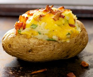 Bacon and Cheddar Twice Baked Potatoes