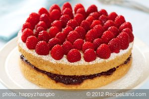 Almond Raspberry Layered Cake