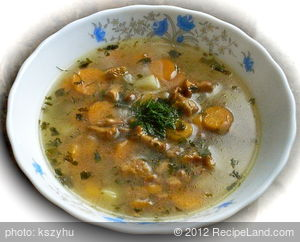 Chanterelle and Carrot Soup