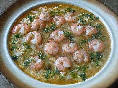 Shrimp and Lentil Soup
