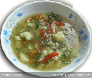 Cauliflower and Savory Soup