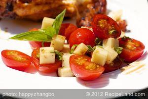 Cherry Tomato, Basil and Mozzarella Salad