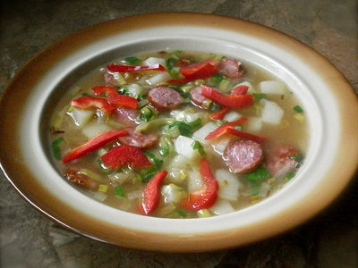 Leek, Potato and Kielbasa Soup