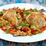 Chicken Scarpariello (Shoemaker-style) Chicken with Sausage and Hot Cherry Peppers