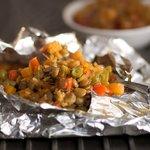 Sweet Potato, Lentil and Green Bean Packets
