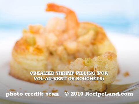 Creamed Shrimp Filling (for Vol-au-Vent or Bouchées)
