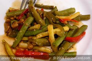 Balsamic Green Beans and Pepper