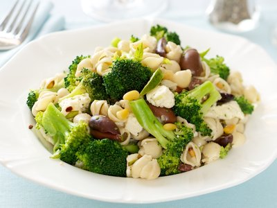 Orzo with Broccoli, Feta Cheese, and Olives