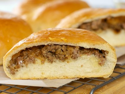 Runsas (German Beef and Cabbage Buns with Cheese)