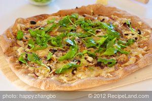 Arugula and Mushroom Pizza