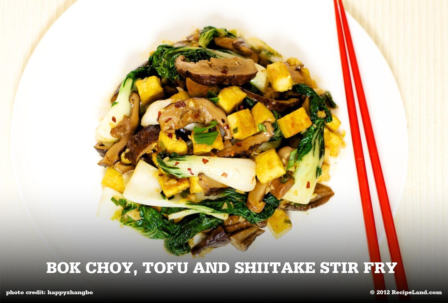 Bok Choy, Tofu and Shiitake Stir Fry