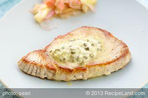 Grilled Tuna Steak with Lemon-Caper Butter
