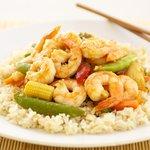 Garlic, Shrimp, and Vegetable Stir-Fry
