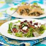 Honey Walnut, Goat Cheese Cranberry Salad