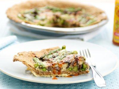 Asparagus and Gruyere Pie