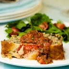 Veggie Meatloaf with Checca Sauce