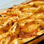 Baked Tomato and Cheese Shells