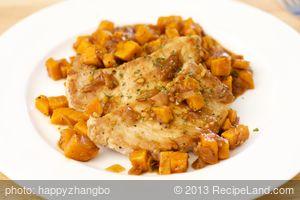 Sweet-Sour Pork Chops and Sweet Potatoes