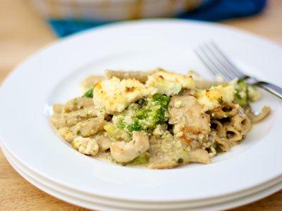 Ricotta Chicken, Noodle and Broccoli Casserole