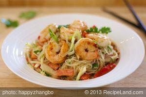 Thai Pasta and Seafood Salad