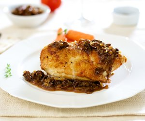 Thyme-Roasted Chicken Breast with Morel-Madeira