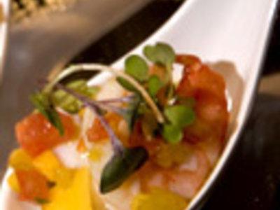 Shrimp Cocktail with Fresh Avocado and Mango Salsa