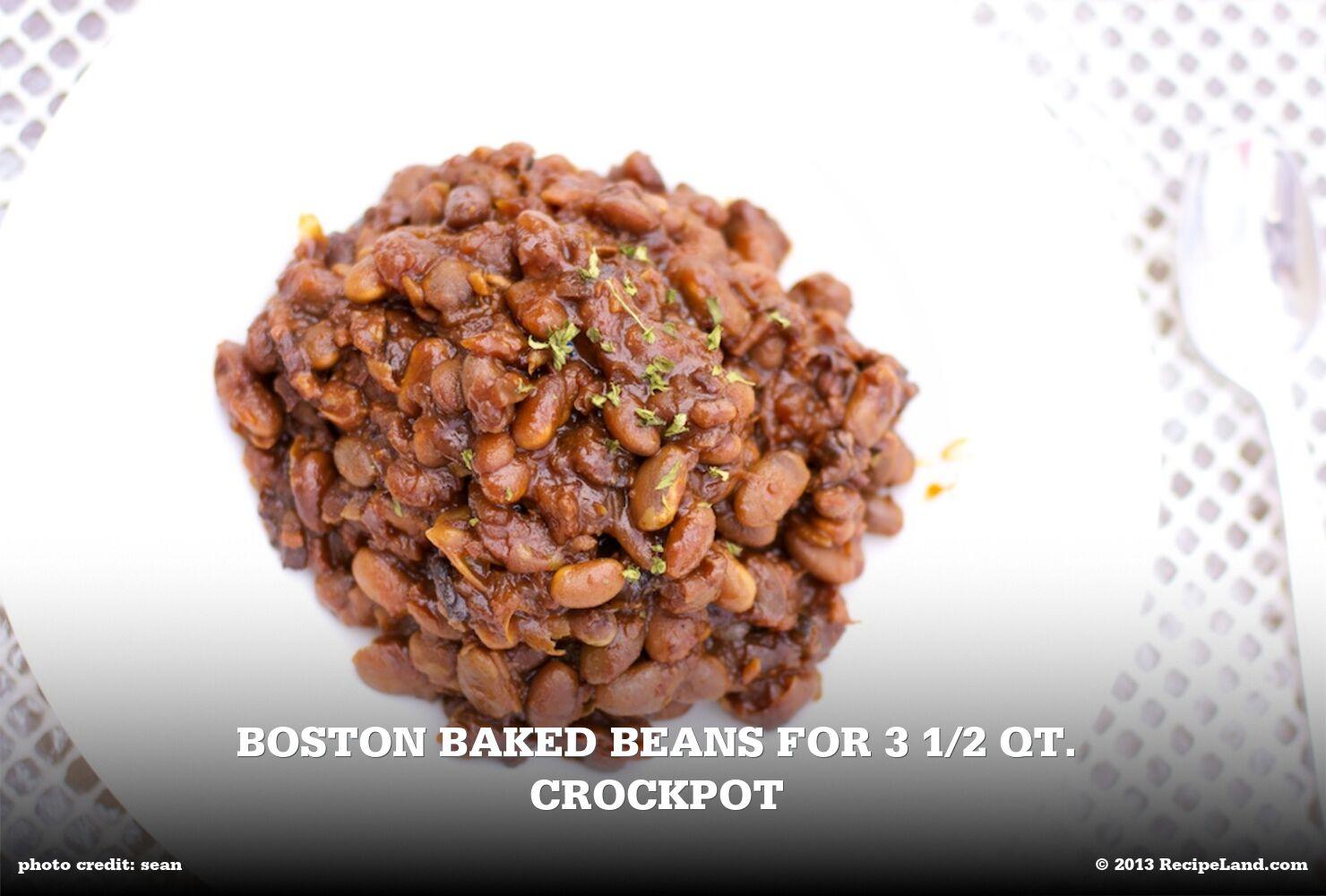 Boston Baked Beans For 3 1/2 Qt. Crockpot