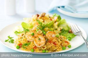 Shrimp And Yellow Rice