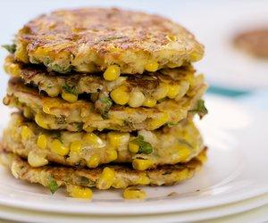 Corn and Basil Pancakes