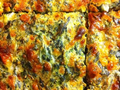Bacon and Cheddar Spinach Squares