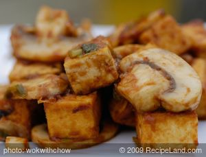 Sichuan Stir-fry Tofu with Mushrooms