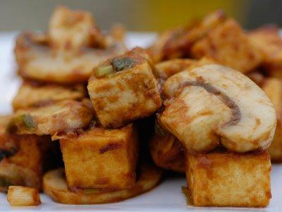 Sichuan Stir-fry Tofu with Mushrooms